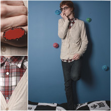 Dayne Tank - Urban Outfitters Light Cardigan, Old Navy Western Plaid Shirt, Forever 21 Raw Stone Ring, Mom's Closet Token Glasses - Thrashing The Air With His Hands.