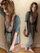 Jeanne M - Zara Hippy Pant, Biasia Francesco Besace Vintage - The end has no end