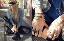 Veronica Ferraro - Forever 21 Necklace, Jeffrey Campbell - A ring for every second i'm alive.