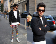 Filippo Fiora - Henrik Vibskov Multicolored Sweatpants, Topman White Sneakers - Lots of colors..