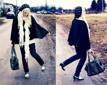 Kerti P. - Vero Moda Sequin Beret, SeppäLä Scarf, Mum Made It Cape, House Studded Bag - And you shake and you bleed while I sing my song.