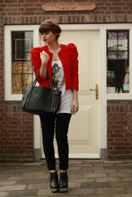 Iris . - Acne Studios Wedges, H&M Jacket - Rouge Rouge!