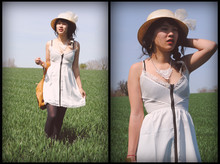 Leeloo P - Hat Vintage, Urban Lace Dress Outfiters, Necklace Sessun, Bag Jerome Dreyfuss - °°Spring is back°°°°