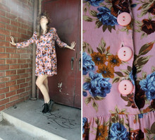 Isabel and Mina Photography . - Vintage Black Oxford Boots, Vintage Pink Floral Dress - Ghost of Corporate Future