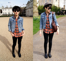 Daniel Diaz - Topman Sunglasses, H&M Denim Jacket, Topman Skinny Jeans, New Look Shirt, Topman Shoes - The mall
