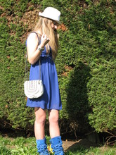 Laura G - Hat Westrags, Dress Westrags, Zara Bag, Boots - Welcome spring