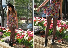 Niki Adams - Forever 21 Headband, Forever 21 Romper, Polka Dot Tights, Thrifted Sheos - Tulips.