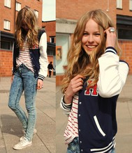 Frida Johnson - Gina Tricot Jacket - WANNA PLAY FOOTBALL?