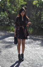 Jessica Tran - Thrifted Granny Blazer, Ankle Booties, Tulle Skirt Dress Thing - Up Up and Away.