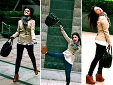 Gaby Muñoz - H&M Leopard Scarf, Juicy Couture Slouchy Bag, Massimo Dutti Safari Blazer - Someday we'll know