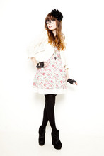 Louise Ebel - H&M Jacket, Cookies Typhaine's Dress !, Asish Boots, Asos Gloves - Grazia