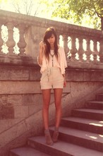 "Yoshino Mia - H&M Top, H&M Short, Open Boots - "" Les Tuileries """