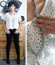 J. Tine - H&M Lace Top, Forever 21 Necklace, Minimarket Boots - Fresh