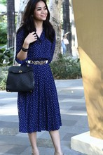 Kate H - Vintage Dress, Lost And Found Market Cow Skin Belt, Bally Handbag - Sunday