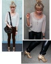 Sara V - Asos Heels, Vero Moda Blouse, Lindex Leather Pants - She was walkin' around with a loaded shotgun