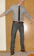 Ross D - H&M Button Shirt, Levi's® 511 Jeans, Fossil Boots, Ebay Black Skinny Tie - All Things Go