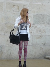 Esikazemese _ - H&M Pink Floral Tights, Bershka Studded Bag - USE A CONDOM, BE SAFE!