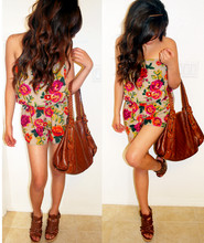 Dianamae Cister - Boutique Floral Romper, Gucci Bag, Guess? Guess Wedges - Oh this just can't be summer love