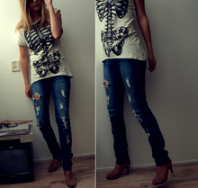 Jamie D - Zara Top, Vero Moda Ripped Jeans - I just can't believe it