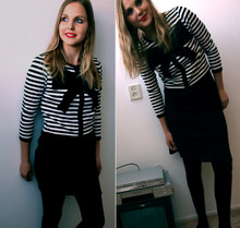 Jamie D - H&M Vest, Vero Moda Dress - Cause it's black and white
