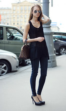 Marie Skinny - Louis Vuitton Bag, Ray Ban Sunglasses, H&M Top, Bershka Jeans - Cause I'm missing you babe