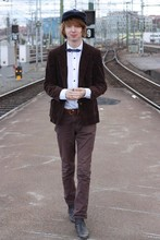 J. D. Weiertz - Broadway & Sons Corduroy Jacket, Topman Bow Tie, Topman Chelsea Boots - WHEN I SAY I'M IN LOVE