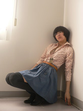 M. Z. - Etam Pinky Blouse, Geox Round Shose - Hiding from sunshine