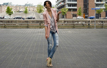 Ilanka Verhoeven - Vero Moda Blazer, H&M Slouchy Blouse, Bershka Ripped Jeans, Blanco Lace Up Heels - One of the guys..