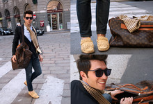 Filippo Fiora - Missoni Moccasins, Dior Homme Jacket, Louis Vuitton Vintage Travel Bag - Leave out all the rest