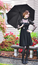 Alex T - 2nd Hand Store Black Vintage Dress, Ebay 2 Tone Lace Tights - There will be BLACK