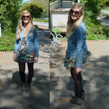 Sarah Bon - H&M Denim Jacket, H&M Flower Dress, Van Haren Ankle Boots - IF I AIN'T GOT YOU