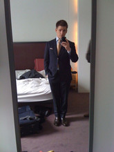 Danny Roberts - Astore & Black Bespoke Suit, Coach Dark Brown Shoes - Suitcase Life