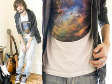 Tony Stone - Youreyeslie Cosmos T Shirt, H&M Black Acid Wash Zipper, Marc By Jacobs Used Denim - BIG SUPPORT/THX U/ETERNAL SUNSHINE
