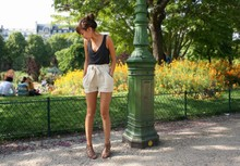 Yoshino Mia - H&M Top, H&M Short, New Look Sandals Wedge - Parc Monceau