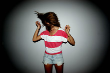 Juliette F. - H&M Stripped Short Tee, Abercrombie & Fitch Denim Short - Make the girl dance.