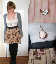 Rachel Suzanne - Clothes Show Birmingham Floral Skirt, Topshop Daisy Ring, Cameo The Label Necklace, H&M Vest - Hollywood Infected