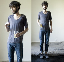 Tony Stone - Cos Cool T Shirt, Topman Love Denim, Marc By Jacobs Chukka Van'sxmarc - GREENTEA/SUNSHINE/NOSOCKS