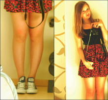 Linnéa B - Zara Skirt, Ahlens Tanktop, Coverse My New Lovers - If the town is on fire, we'll go there