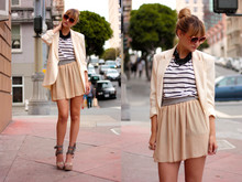 Liz Sampson - American Apparel Skirt, Zara Top, Vintage Blazer, Modcloth Sunglasses, Gap Shoes - The Dirt is Temporary
