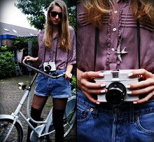 Iris M. - Zara Top, Levi's® Shorts - Why do you come here when you know it makes things hard for me?
