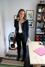 Ellinor Andersson - Jumperfabriken Sailor Jumper, Em Gentleman, Tradera Vintage Bag, Acne Studios Jeans - Don´t mind the sheep...