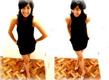 Dani Barretto - Topshop Black Mini Dress, Topshop Beanie, People Are Gold Heels - I'll stay with you forever, as long as you love me too.