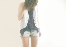 Q A - Cotton On Vest, Topshop Crop Tank, Shorts - I say love is a razor that leaves your soul to bleed