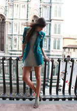 Andy T. - Vintage Blazer, Topshop Dress - WHAT HAPPENS IN FLORENCE