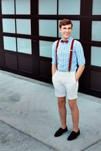 Michael Brown - Thrifted Bowtie, Thrifted Suspenders, Target Shirt, Topman Shorts, Thrifted Lace Ups - W. 18th