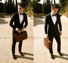 Edward Honaker - H&M Suit, Dolce & Gabbana Shirt, Ralph Lauren Tie, Florsheim Shoes, Thrift Store Bag - Lara vs. the Savage Pack