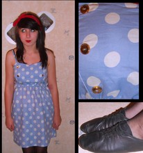 Daisy Post - Primark Dress, Rocket Bandana, Old - Polka dots and buttons.