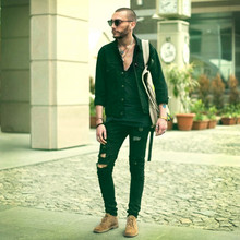 Ruslan Masai - Levi's® Jacket, Marc By Jacobs Backpack, Diesel Jeans, Clarks Boots - By slickwalk