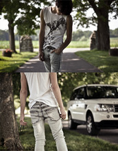 Michel R - All Saints Cut Up Tee, Cheap Monday Acid Washed Jeans - High Class Trash
