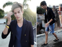 Jesus Ramirez - Secondhand Blazer, Zara Shirt, Selfmade Short, Keds Shoes - HARDBALL